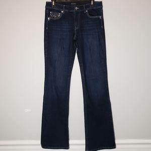 White House Black Market Blanc Bootcut Jeans Sz 6